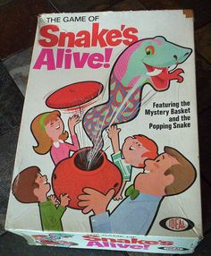 The Game of Snake's Alive! by Ideal (1967)