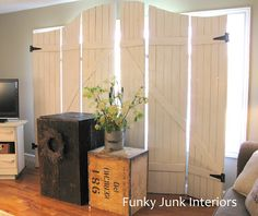 Funky Junk Interiors: Create your own wooden gate window screens
