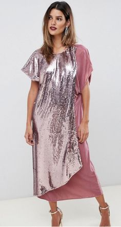 Pink Glitter Party Dress