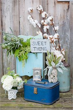 sweet thing wedding sign I like the cotton branches - H