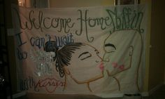 My homecoming sign! Just paint and glitter and a whole lot of love!