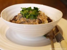 Healthy Recipes for the 5:2 Diet - Mushroom Stroganoff