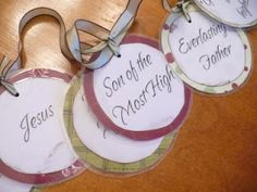 Names of Jesus Easter garland.  I want to make this!