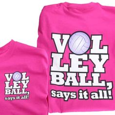 DARK PINK Tandem Volleyball Says It All Volleyball T-Shirt at Volleyball.Com