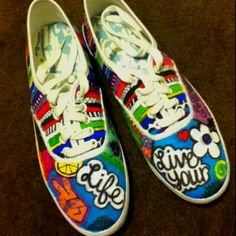 My shoes decorated with sharpies!