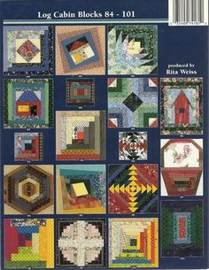 Customer Image Gallery for 101 Log Cabin Blocks with Full-size Patterns for Foundation Piecing