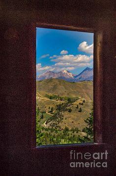 Framed White Dome Mountain Range:  See more images at http://robert-bales.artistwebsites.com/