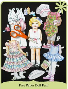 free #printable paper dolls!