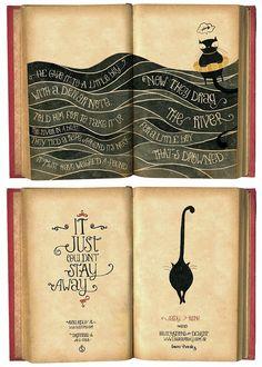 Fun typography in book of poetry by Laura Varsky