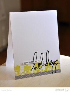 Happy Happy Happy Holidays Card {Studio Calico November Kit}