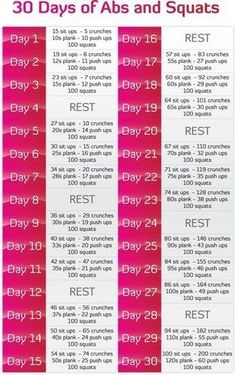 30 days of abs and squats