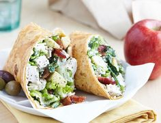 Chicken Caesar Wrap / #recipe