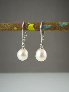 ivory pearl drop earrings