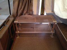 pop up camper storage ideas | My pop up camper storage ideas! Shelves to go! | lannef72