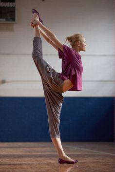 dancer's pose.