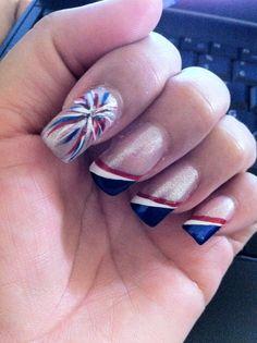 diy fourth of july nail art