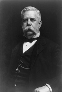 George Westinghouse, Jr (October 6, 1846 – March 12, 1914) was an American entrepreneur and engineer who invented the railway air brake and was a pioneer of the electrical industry. Westinghouse was one of Thomas Edison's main rivals in the early implementation of the American electricity system. Westinghouse's system, which used alternating current based on the extensive research by Nikola Tesla, ultimately prevailed over Edison's insistence on direct current. In 1911, he received the AIEE's Ed