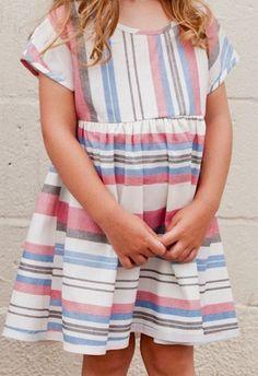 denim stripe weekender dress - boy + girl