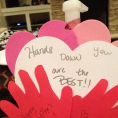 Valentine's Day Teacher gift with hand sanitzer