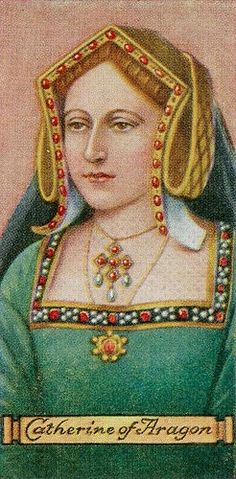Katherine of Aragon on a cigarette card.