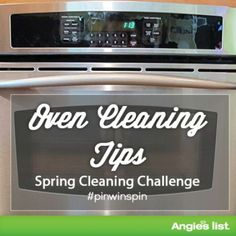 Great tips for cleaning your oven - Enter for a chance to win a new washer and dryer here: https://www.facebook.com/angieslist/app_120860451431022