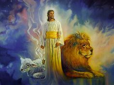 Marriage in Heaven New Earth | Jesus Picture In Glory With Lion And Lamb