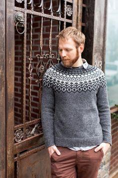 brooklyn tweed, woman fashion, yoke sweater, fashion outfits, knit sweaters, jumpers, grey, blog, iceland sweater