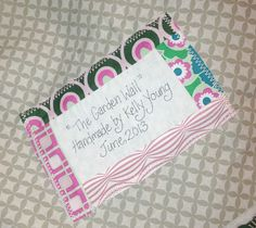 My Quilt Infatuation: Quilt Labels- the Cute and Easy Way!