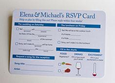 invit, wedding cards, rsvp card, idea, foods