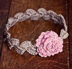 Ravelry: Centifolia Rose Headband pattern by Mon Petit Violon