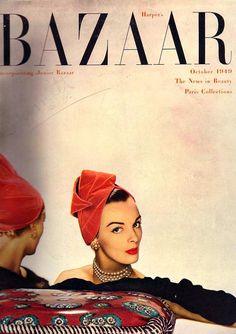 harper's bazaar, oct1949 #vintage #fashion #magazine