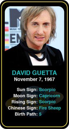 Celeb #Scorpio birthdays: David Guetta's astrology info! Sign up here to see more: https://www.astroconnects.com/galleries/celeb-birthday-gallery/scorpio?start=90  #astrology #horoscope #zodiac #birthchart #natalchart #davidguetta