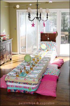 Princess & the Pea, Pajamas & Pancakes–Birthday Party » paintchips & cupcakes