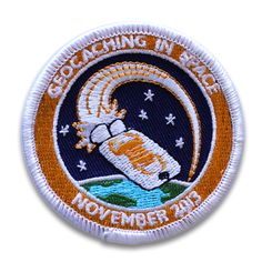 Celebrate the geocaching spirit of exploration with this Geocaching in Space Mission Patch.   Geocaching will donate the profits from sale of this patch to Donorschoose.org for use in funding projects that use geocaching as an educational tool.