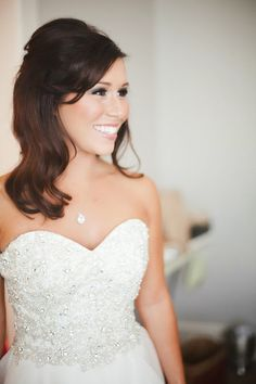 A pretty half-up 'do for the #bride | Christy Archibald Photography