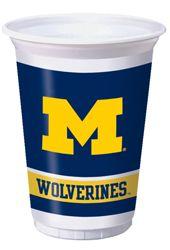 University of Michigan Plastic Beverage Cups