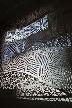 paper art installation
