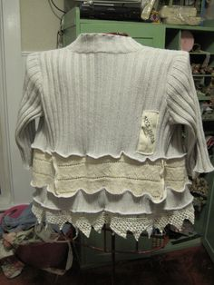 Back of upcycled sweater
