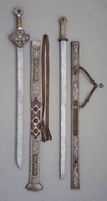 Tibetan swords, 19th century #Weapons