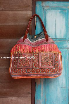 Luxury Tribal Ethnic Tote Bag L254L2 by LuxuryLannaCrafts on Etsy, $159.00