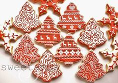 Sweetambs - Red and White Christmas Cookies