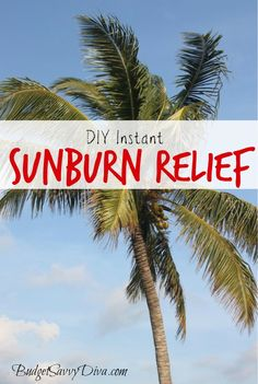 How to Make Instant Sunburn Relief Cubes