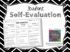 Student Self Evaluation FREEBIE