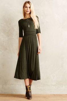 Jersey Midi Dress #a