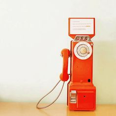 My orange vintage payphone :)