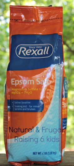 """Epsom salt ... Do you really know what all it can do for you?"""