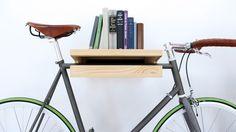 A bike bookshelf? So awesome!