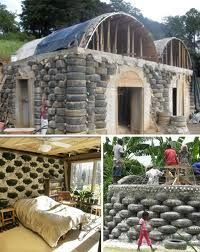 recycled homes - made from car tyres