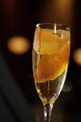 Orange-elderflower champagne cocktail
