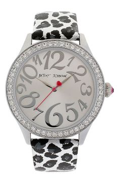 Betsey Johnson Print Leather Strap Watch available at #Nordstrom